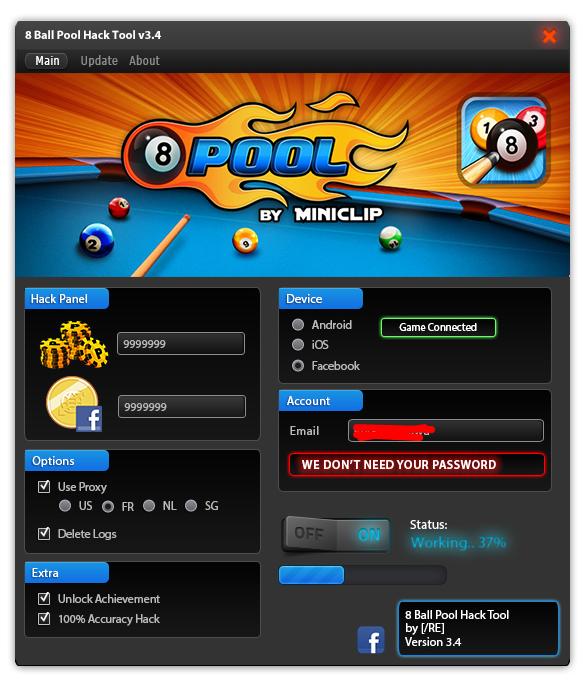 8 Ball Pool Hack Bekommst du durch den 8 Ball Pool Hack deine Münzen kostenlos Ja es geht! Und ich zeige dir wie! Du brauchst mehr Münzen und Geld für 8 Ball Pool
